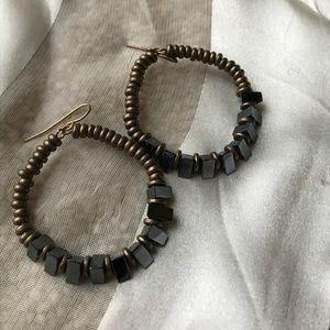 Vanessa Mooney x FP Brass Bead & Stone Earrings